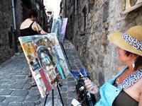 Schilder-vakantie - Bolsena-Italië-Volg de rode schoentjes
