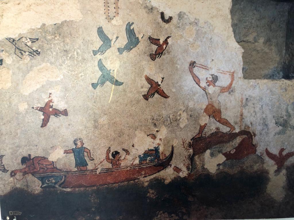 Etrusken cultuureis grafscihildering Tarquinia