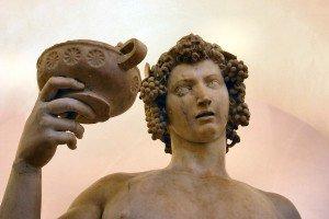Bacchus de god van de wijn