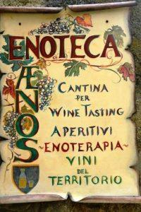 Aenos wijnbar Bolsena