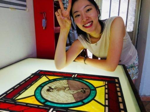 Glas in lood schilderen cursus Italië
