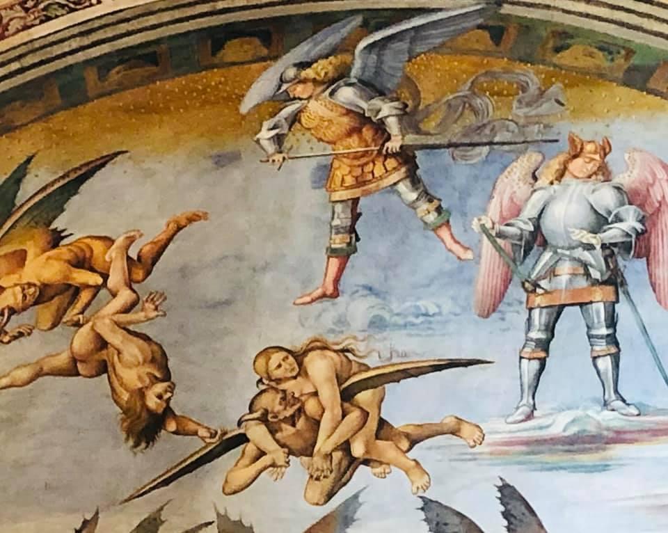 Orvieto. Volg de rode schoentjes. De dom van Orvieto.