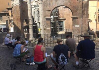 Urban Sketching Rome Volg de Rode schoentjes