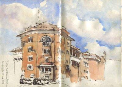 Urban sketchingsafari Rome