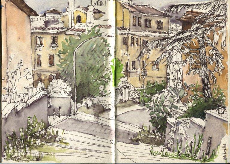 Urban sketchingsafari Rome.