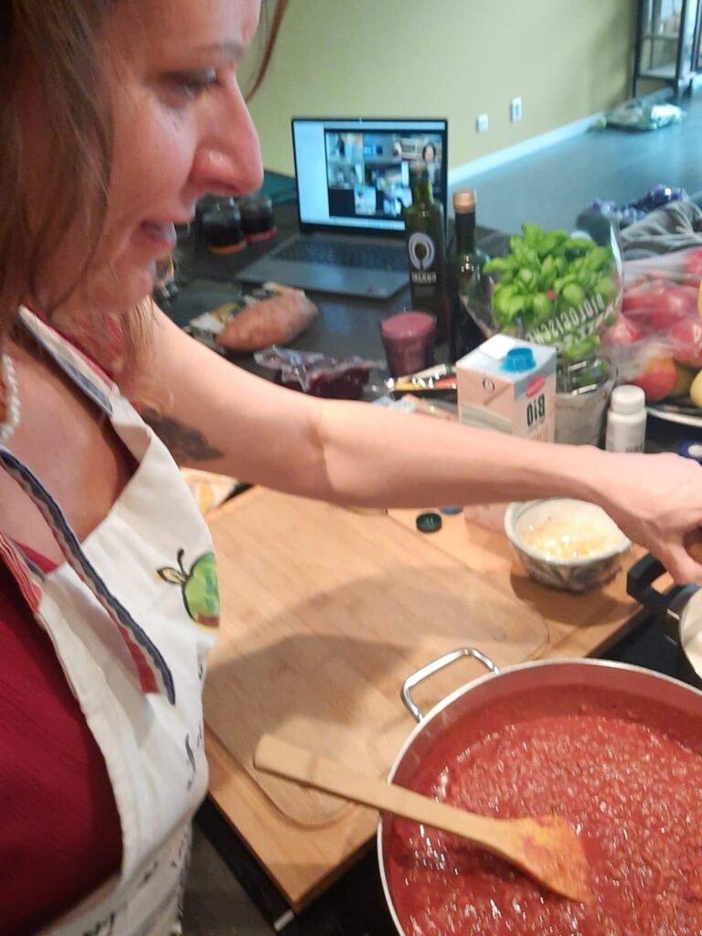 Online koken. Italiaans en Vegan. Volg de rode Schoentjes