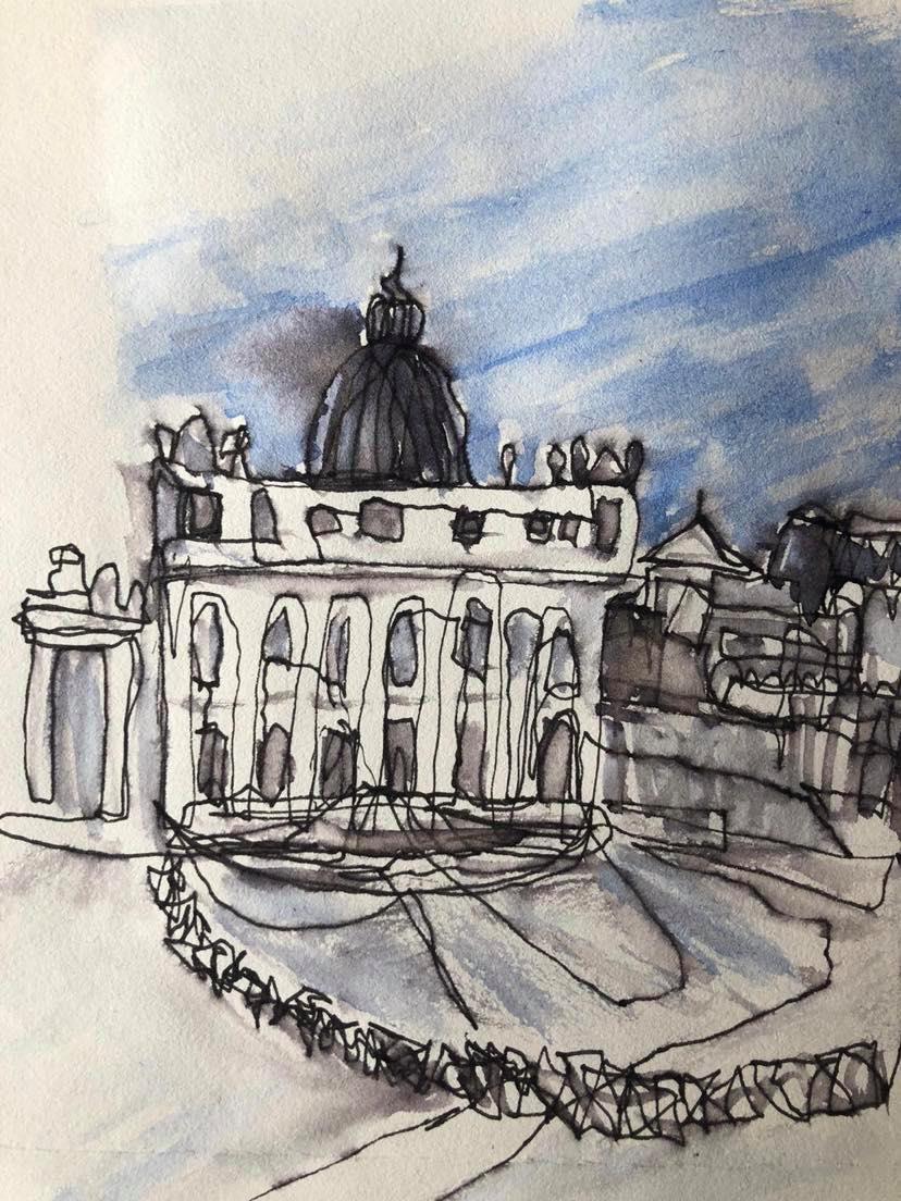 Urban sketching safari Rome